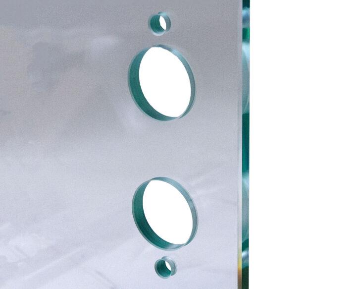 Dørblad af glas